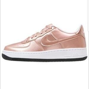 Nike Air Force One Rose Gold Sneakers